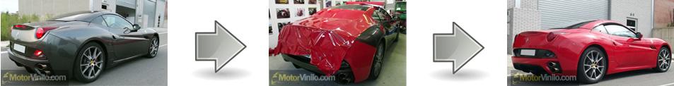 Cambiamos el color tu coche con vinilo