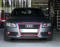 Audi A5 forrado integral con vinilo gris mate oscuro