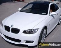 BMW forrado integral con Vinilo blanco brillante