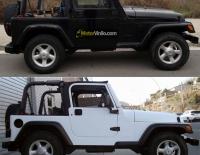 Jeep Wrangler forrado integral con Vinilo blanco mate