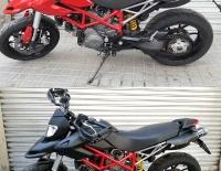 Antes y Después del forrado integral de la Ducati Hypermotard
