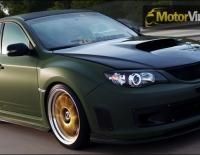 Forrado integral del Subaru Impreza con Vinilo verde mate