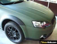 Subaru Outback forrado integral con Vinilo verde mate