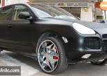 Porsche Cayenne forrado integral con Vinilo negro mate