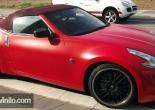 Nissan 350Z forrado integral en Vinilo rojo mate