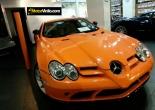 Mercedes SLR forrado integral en Vinilo naranja brillante