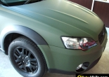Subaru Outback forrado integral en Vinilo verde mate