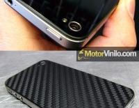 Antes y Después de forrar el Iphone 4 con Vinilo carbono