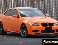 BMW con forrado integral en Vinilo naranja brillante Scothprint 1080