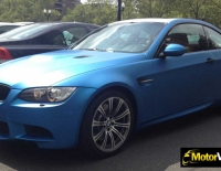 BMW forrado integral con Vinilo azul mate metalizado