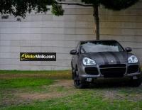 Porsche cayenne forrado integral con Vinilo gris oscuro mate metalizado