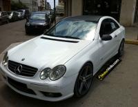Mercedes CLK con Vinilo carbono
