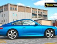 Porsche forrado integral con Vinilo azul mate metalizado