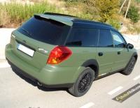 Subaru Outback forrado integral con Vinilo verde mate militar